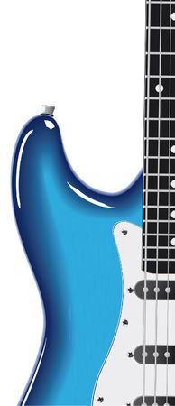 series. Electric guitar isolated on white background Stock Photo - 6585784