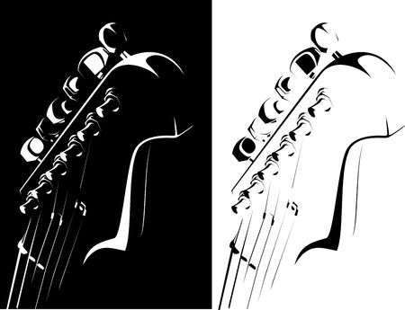 series. Electric guitar black-white version Stock Photo - 6586337