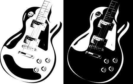 series. Electric guitar black-white version Stock Photo - 6586210