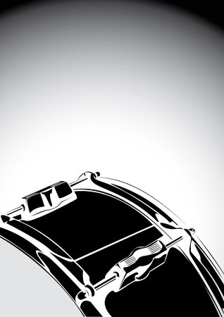 Series. Snare drum black-white version Stock Photo - 6586302