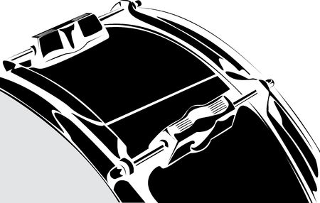 Snare drum black-white version photo