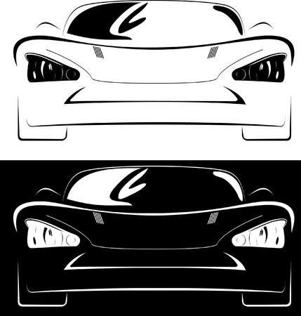 aggressive car is isolated on white and black background Stock Photo - 6654161
