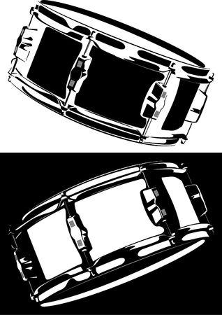 drum sticks:  Snare drum black-white version Stock Photo