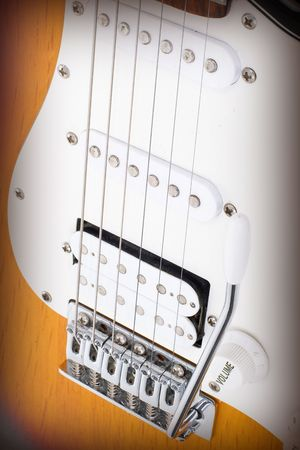 tremolo: Series. electricguitar isolated on gradient background