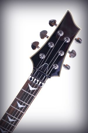 strat: Series. electric guitar isolated on gradient background