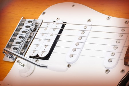 Series. electricguitar isolated on gradient background photo