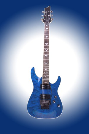 tremolo: Series. electric guitar isolated on gradient background