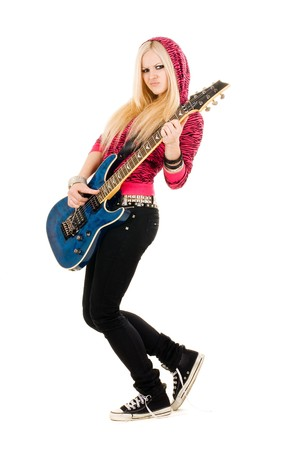 Series. The beautiful blonde with a guitar