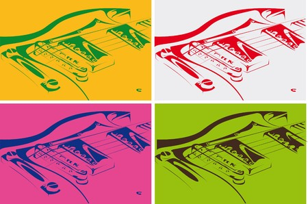 Electric guitar black-white version Stock Photo - 7775567