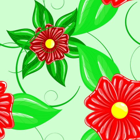 Series. Seamless wallpaper pattern with flower photo