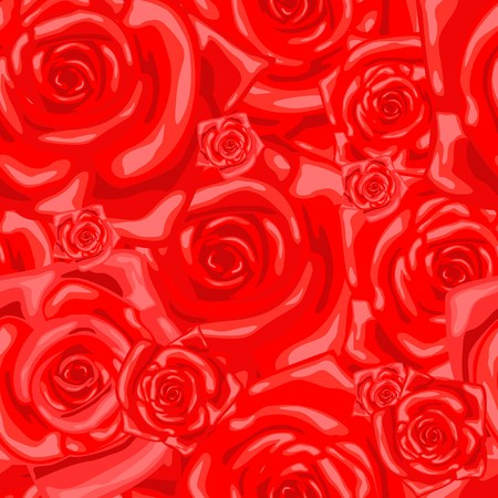 Series. Seamless wallpaper pattern with rose photo
