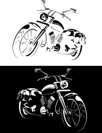 motobike is isolated on white and black background Stock Photo - 7775514