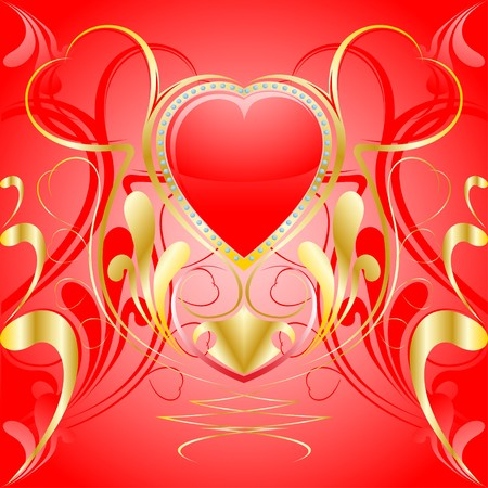 Heart ornament background. Valentine day photo
