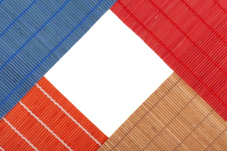 series. Colourful bamboo rugs in the Chinese style photo