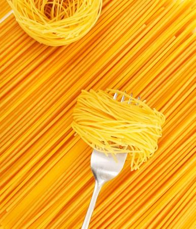 fork glasses: serie di immagini con pasta
