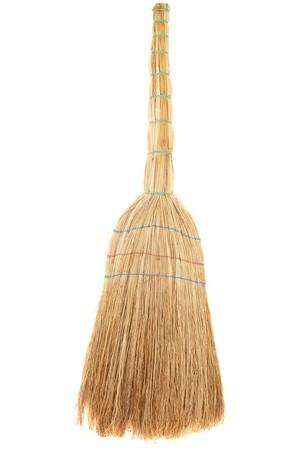 broom handle: series.Broom isolated on white