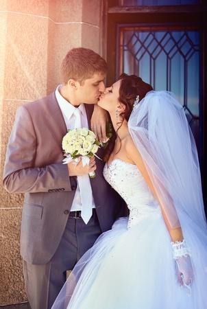 Serie. Bruid en bruidegom Stockfoto