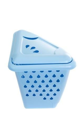 Series. empty recycling bin on white photo