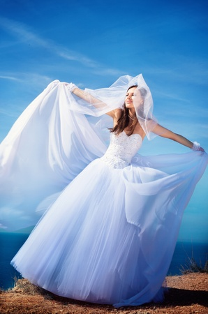 Serie. Retrato de la joven hermosa novia Foto de archivo - 8776092