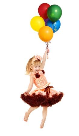 ni�os rubios: Series.Portrait de la bella joven en un vestido rosa Foto de archivo