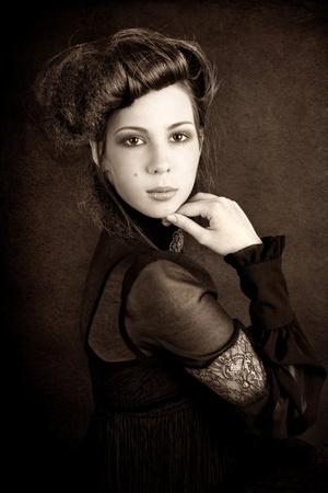 Series. Romantic Beauty.Retro Style Stock Photo - 8776100