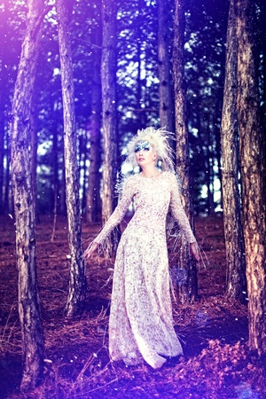 glamur: Series. Beautiful blonde in a dress of Snow Queen