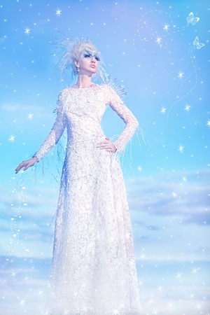 Series. Beautiful blonde in a dress of Snow Queen photo