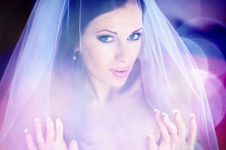 Serie. Portret van de jonge mooie bruid