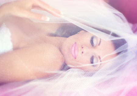 Series. Portrait of the young beautiful bride Stock Photo - 9028525