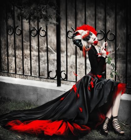 serie. Un retrato de la chica en estilo gótico