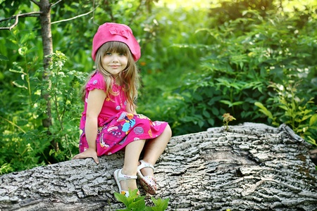 Little girl in village photo