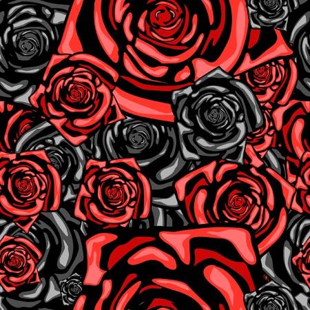 Serie. Patrón de fondo transparente con rose Foto de archivo