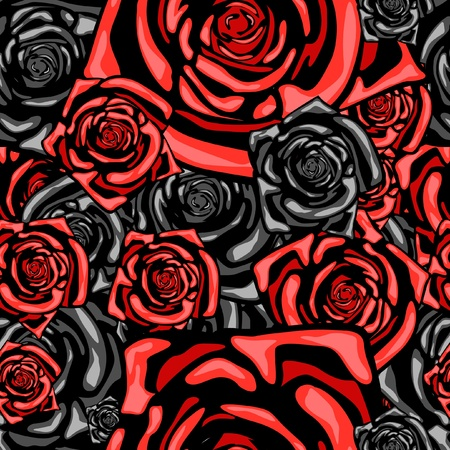 Series. Seamless wallpaper pattern with rose Stock Photo - 9618837
