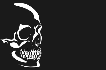 Series. Vector image of a human skull on a black and white background Stock Photo - 9770029