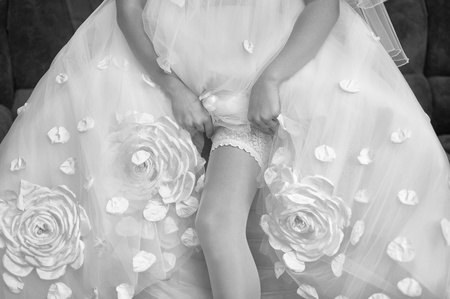 Series. Beautiful leg of the young bride Stock Photo - 11745807