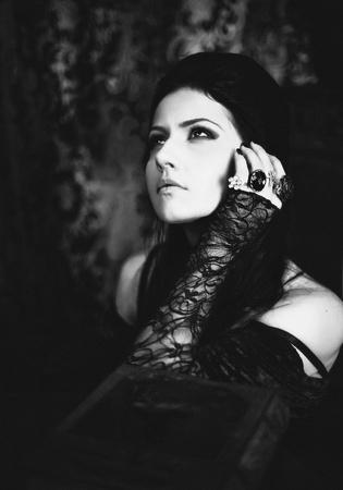Serie Un retrato de la chica de estilo gótico