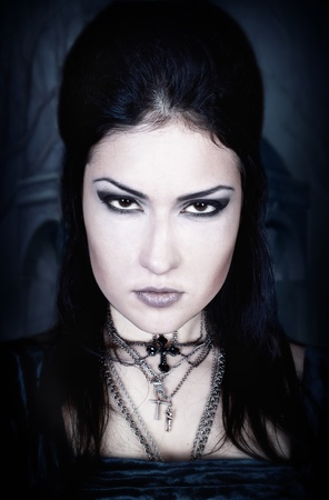 series. A portrait of the girl in Gothic style photo