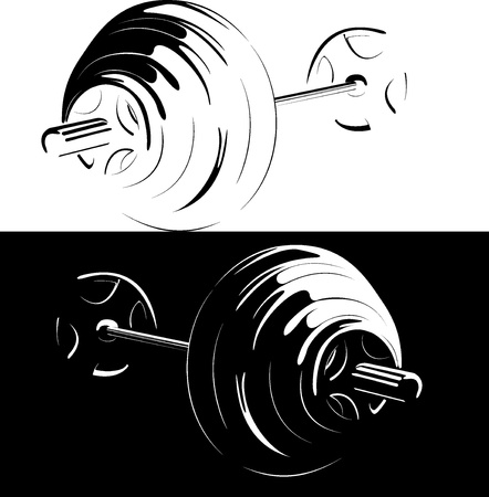 weightlifting: A series  Sports stock  It is black and white version