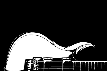 series  Electric guitar black-white version photo