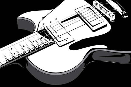 isilated: series  Electric guitar black-white version