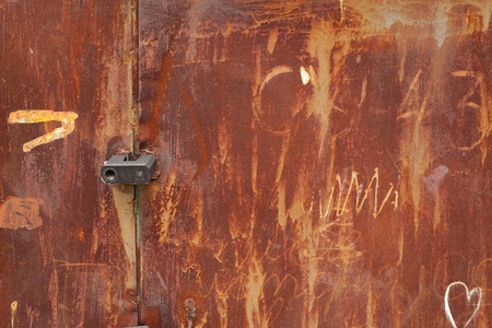 Series.old rusted tin background and texture photo