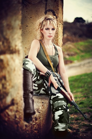 cosplay: The image of a beautiful young girl in uniform