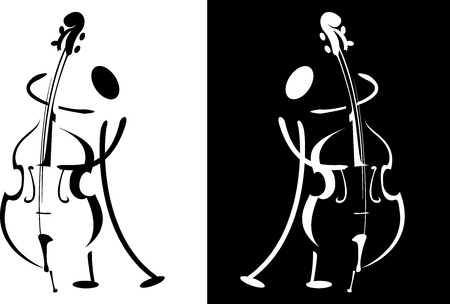 Contour of the musician playing on the instrument Stock Photo - 14736935