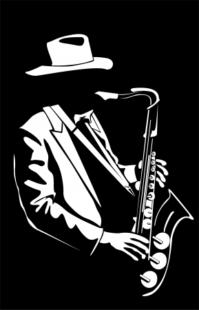 saxophonist: Vector image of the saxophonist Stock Photo