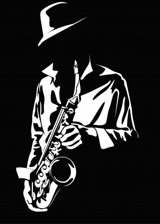 Vector image of the saxophonist Stock Photo