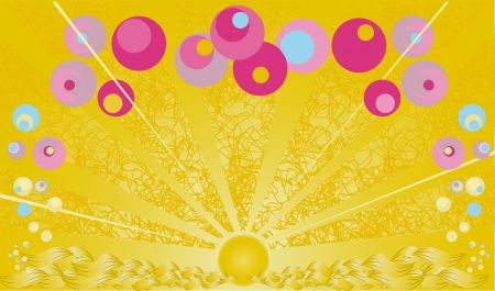 Colorful summer background with bubbles Stock Photo - 15904954