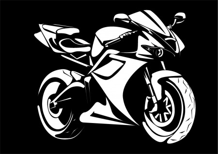 black and white motorcycle illustration illustration
