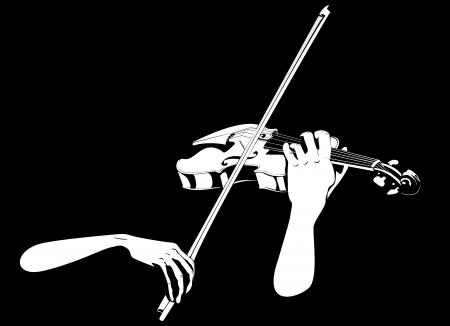 Violin and hands photo