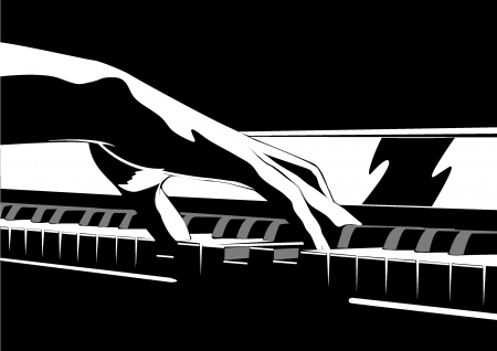 ピアノと手