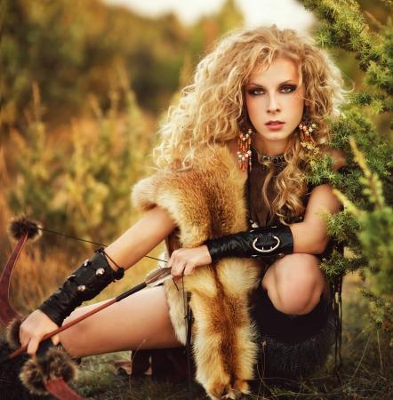attractive woman warrior photo